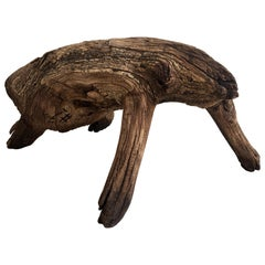 Primitive Mesquite Stool from Mexico