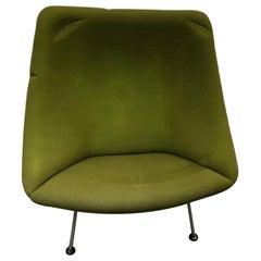 Artifort Green Oyster Lounge Chair by Pierre Paulin