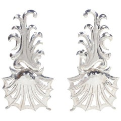1980s Vintage Hollywood Regency Fireplace Andirons