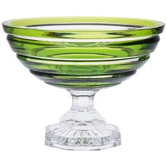 Modern Pastel Green Crystal Footed Bowl