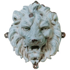 19th Century Zinc Lion