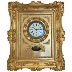 Biedermeier Frame Clock, circa 1850