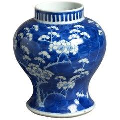 19th Century Blue and White Porcelain Vase