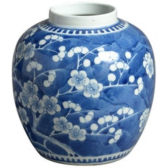 19th Century Blue and White Porcelain Jar