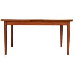 Dining Table Teak Vintage Midcentury Danish Design