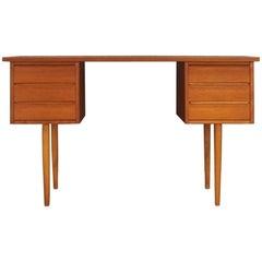 Vintage Writing Desk Teak Classic Midcentury Retro
