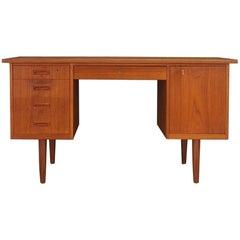 Teak Writing Desk Midcentury Retro Vintage