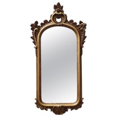 Early 20th Century Italian Wooden Carved Gilt Wall Mirror