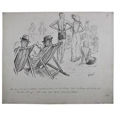 """Stern Critic"" Original Ink Drawing"