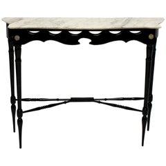 Stylish Ebonized Italian Console Table
