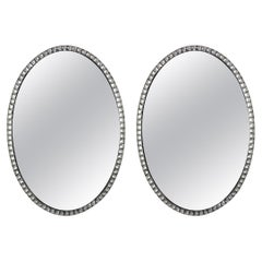 Pair of Rock Crystal Stuuded Irish Mirrors