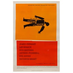 """Anatomy of a Murder"" Film Poster, Saul Bass, 1959"