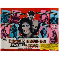 """The Rocky Horror Picture Show"" Original British Film Poster, John Pasche, 1975"