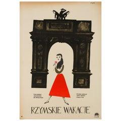 Roman Holiday Original Polish Film Poster by Jerzy Flisak, 1959