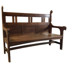 Rare Kobus De Graaff Arts & Craft Bench