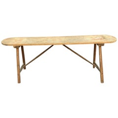 Brutalist Wooden Console Table, circa 1930
