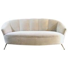 Italian Midcentury Velvet Sofa
