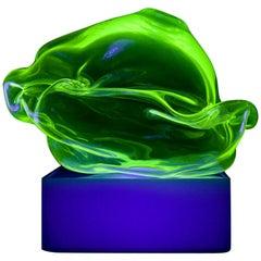 Sculptural Light in Fluorescent Hand Blown Glass by Jeff Zimmerman