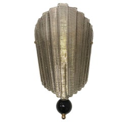 Murano Glass Mid-Century Modern Era Ventolina Wall Light