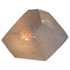 """Salt Crystal"" Table Lamp in Hand Blown Soda Glass by Jeff Zimmerman"