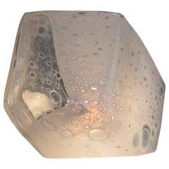 """Salt Crystal"" Table Lamp in Hand Blown Soda Glass, Jeff Zimmerman"