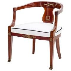 Empire-Style Desk Chair, France, circa 1880