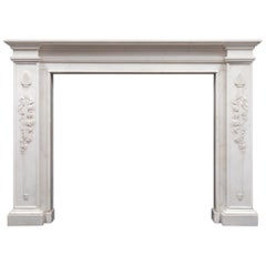 Regency Statuary Marble Fireplace