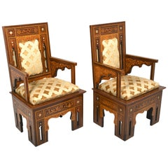 Pair of Middle Eastern Armchairs