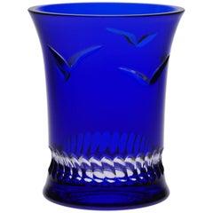 Modern Blue Crystal Vase