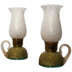 Archimede Seguso Pair of Table Lamps