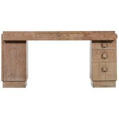 French Modernist Desk in Oak