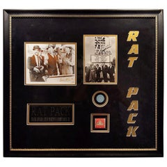 Framed and Autographed Rat Pack Collectible, Sands Casino Las Vegas
