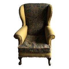 Wingback Chair, English, Edwardian, Armchair  circa 1910