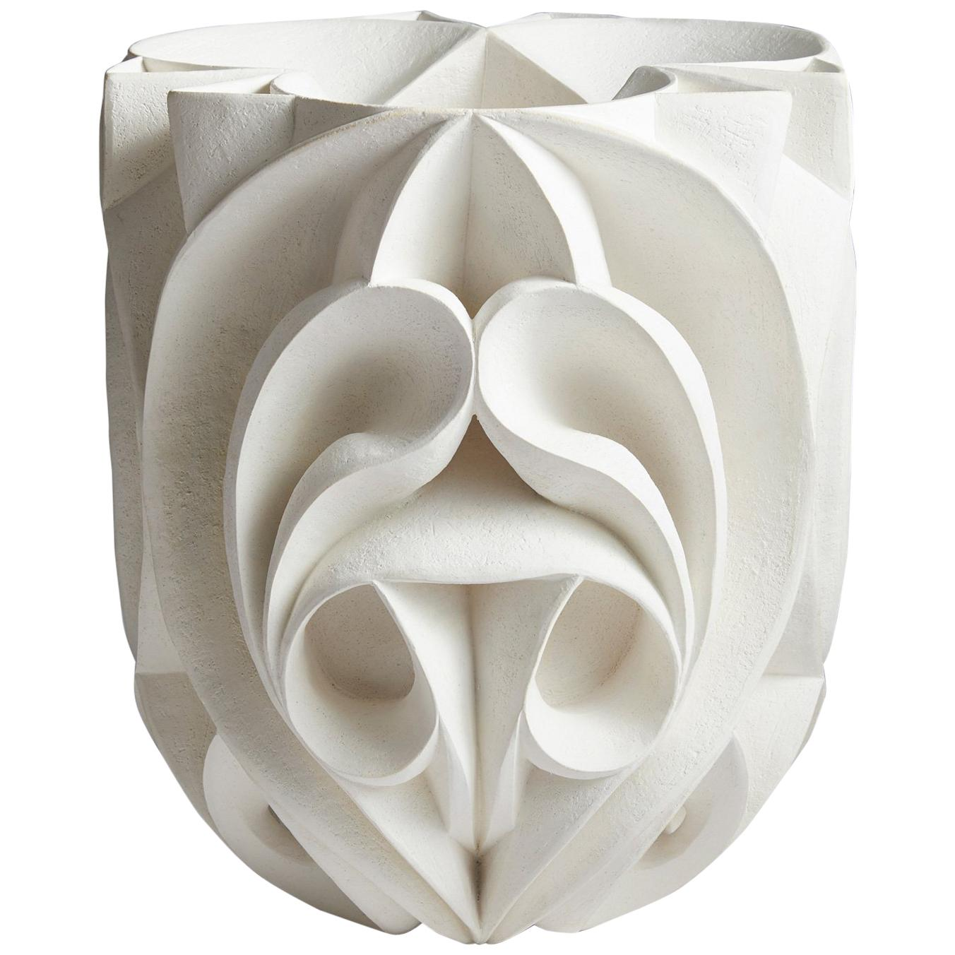 Contemporary Hand Carved Ceramic Sculpture by Halima Cassell