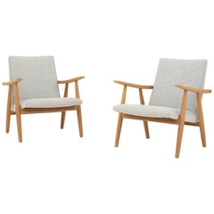 Set of Two Easy Chairs by Hans J. Wegner