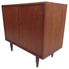 Mid-Century Modern Walnut Cabinet