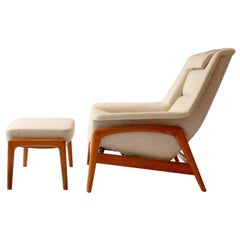 Profil Easy Chair with Ottoman by Folke Ohlsson for DUX, 1960s