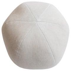 Light Grey Round Ball Pillow