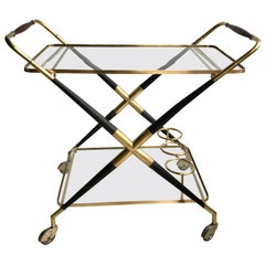 Midcentury Bar Cart Drinks Trolley, Cesare Lacca