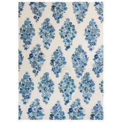 Flora - Casbah Blue Floral Wallpaper