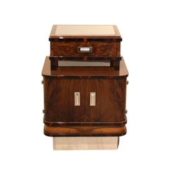 Art Deco Small Furniture/Nightstand, Walnut and Macassar, France circa 1930