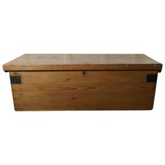 Victorian Pine Blanket Box, Shoe Tidy or Coffee Table