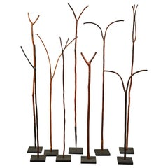 Set of 9 Ethiopian Pilgrim Walking Sticks
