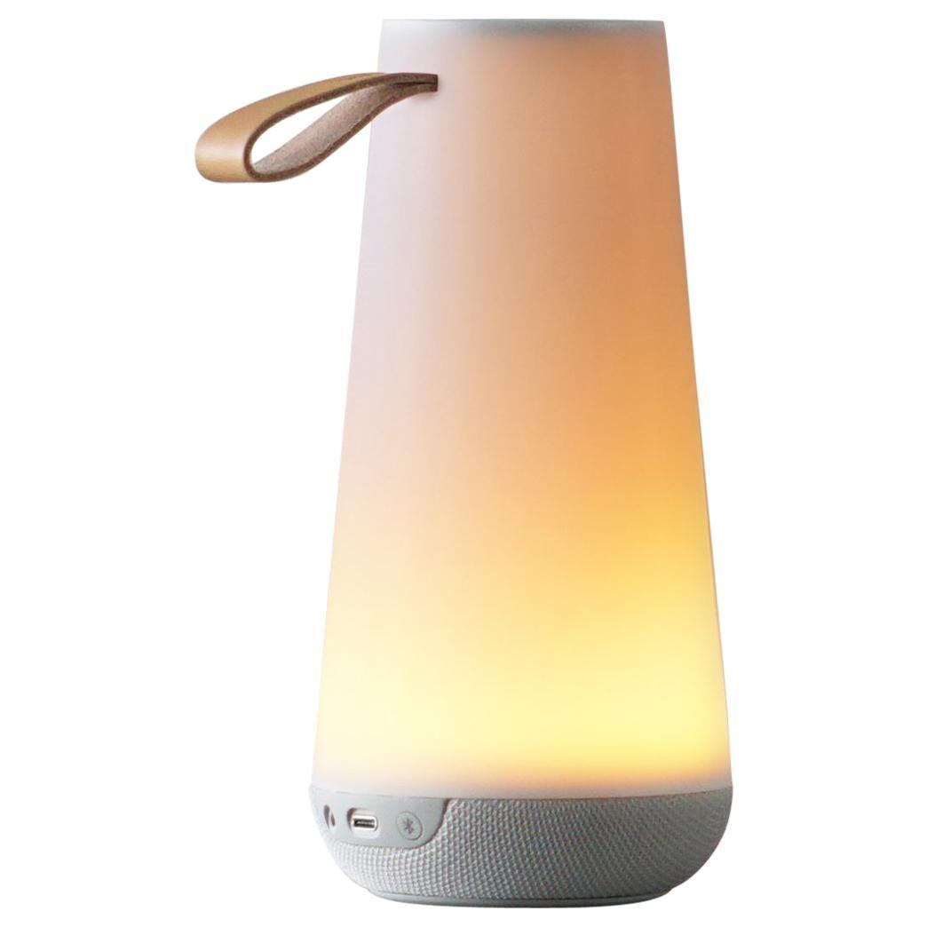 Uma Mini Sound Lantern in White by Pablo Designs