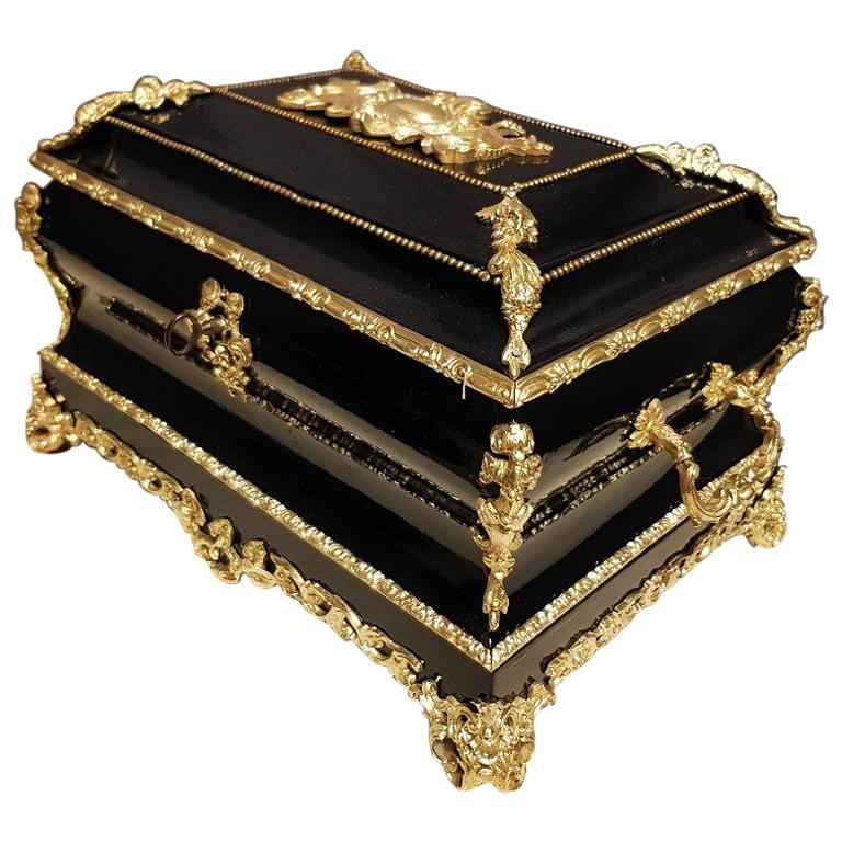 Gorgeous Napoleon III Jewelry Box, France, 19th Century For Sale
