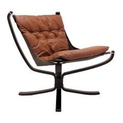 Leather Chair 'Falcon' by Sigurd Resell