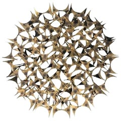 20th Century Brass Wall Sculpture by Marc Weinstein