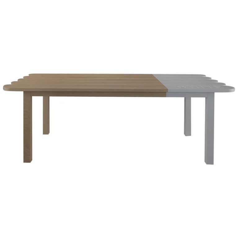 Natural Wood Dining Table by Tiago Curioni For Sale 1