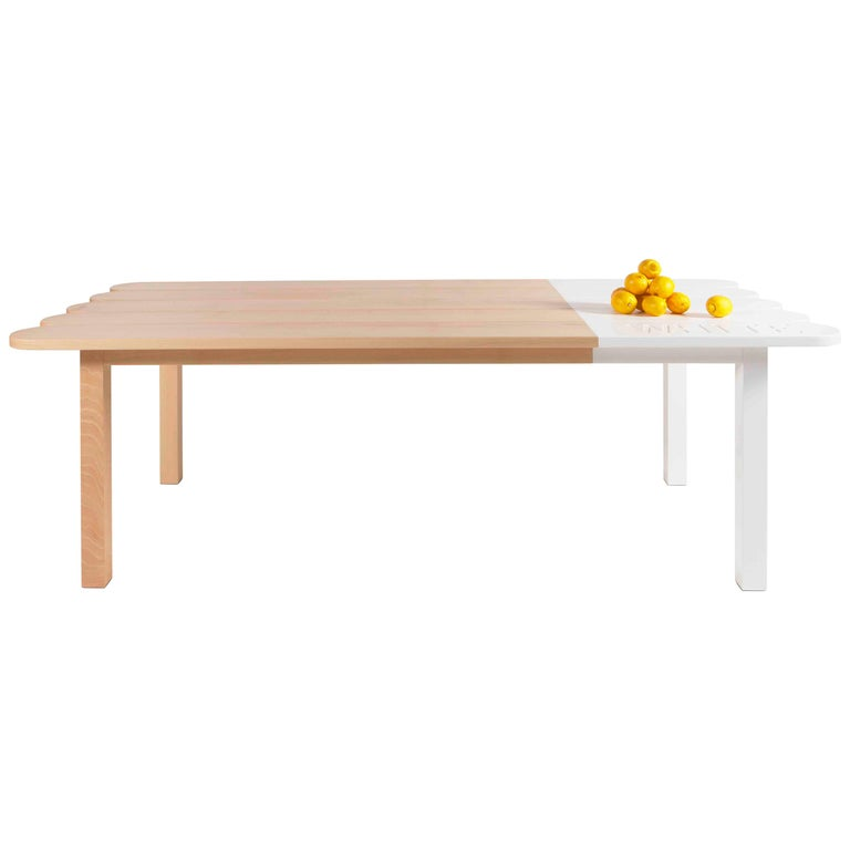 Natural Wood Dining Table by Tiago Curioni For Sale
