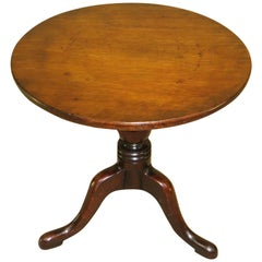 19th Century Mahogany Miniature Tripod Table